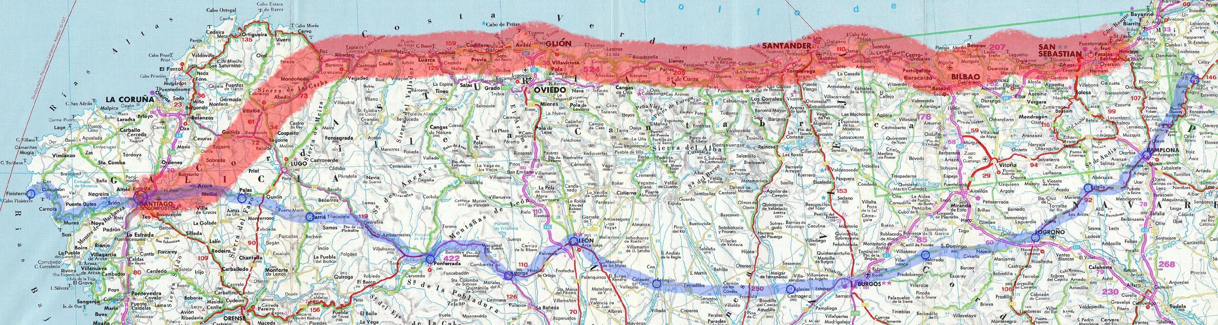 Jakobsweg Frankreich Spanien Karte.Busecker Mountainbiker Auf Dem Jakobsweg 2015